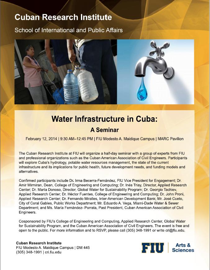 Water Infrastructure in Cuba