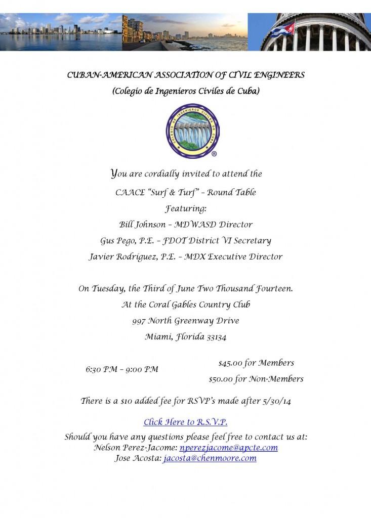 CAACE invitation 2014 Surf  Turf